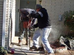 Crew Drilling Home in Ne, Oklahoma